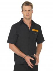 Camisa de prisioneiro preto e cor-de-laranja