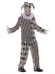 Disfarce Arlequim terrível homem Halloween