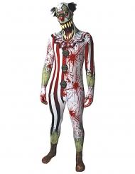Disfarce palhaço ensanguentado adulto Morphsuits™ Halloween