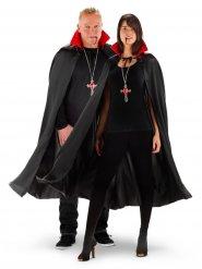 Capa de vampiro gola LED Halloween