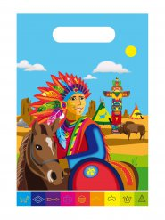 8 Sacos de festa índios 24 x 17 cm