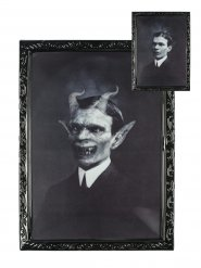 Quadro lenticular gentleman demoníaco 48 x 36 cm Halloween