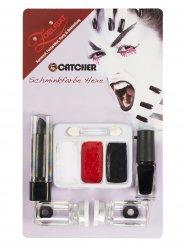 Kit de maquilhagem feiticeira com lentes de contacto adulto