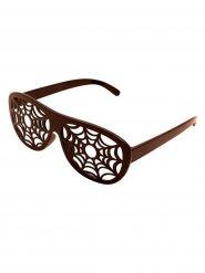 Óculos teias de aranha Halloween castanhos