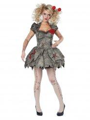 Disfarce boneca vudu mulher Halloween