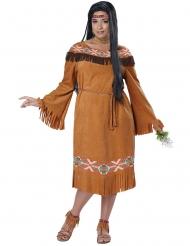 Disfarce índia mulher castanho tamanho grande