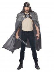 Capa de guerreiro viking com gola