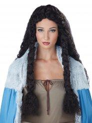 Peruca viking encaracolada mulher