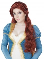 Peruca de princesa medieval mulher