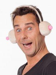 Tapa-orelhas humorístico seios adulto