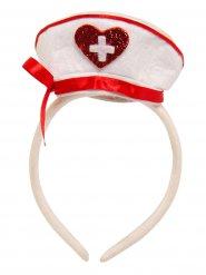 Bandolete enfermeira branca e vermelha mulher