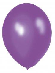 10 Balões lilás metalizados 30 cm