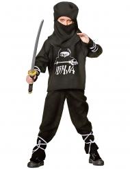 Disfarce ninja criança preto e branco
