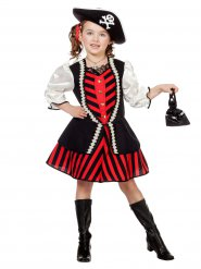 Disfarce capitão pirata menina