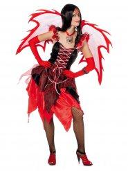 Disfarce de fada diabólica mulher Halloween