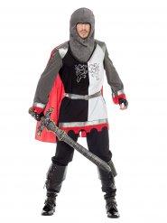 Disfarce cavaleiro da Idade Média adulto