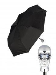 Guarda-chuva de bolso com caveira