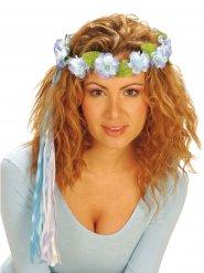 Coroa de flores azuis