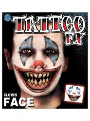 Tatuagens palhaço terrífico Halloween