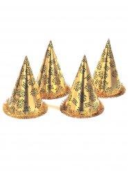 Chapéu pontudo dourado Happy New Year