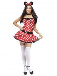 Disfarce rato mulher sexy vermelho branco e preto