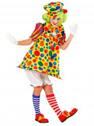 Disfarce palhaço do circo colorido mulher