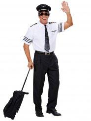 Disfarce comandante de avião homem
