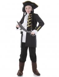Disfarce criança preto pirata nobre