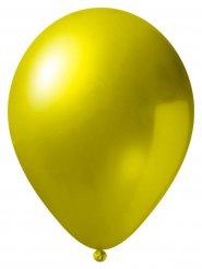 24 Balões amarelos metalizados