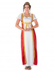 Disfarce vestido medieval mulher
