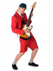 Disfarce vedeta rock homem vermelho