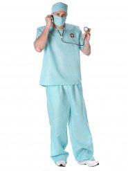 Disfarce cirurgião homem azul