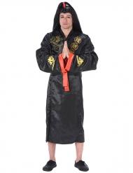 Disfarce samourai adulto preto e dourado