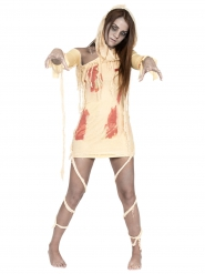 Disfarce múmia sangrenta mulher Halloween