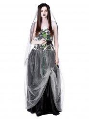 Disfarce noiva gótica mulher Halloween