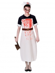Disfarce enfermeira sangrenta mulher Halloween