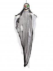 Decoração luminosa fantasma esqueleto gigante Halloween