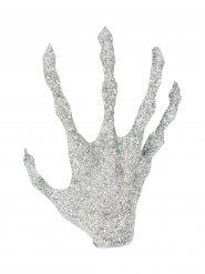 Decoração mão brilhante prateada Halloween