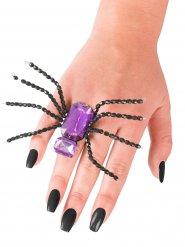 Anel aranha preta e lilás Halloween