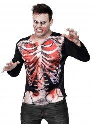 T-shirt Zombie esqueleto Halloween