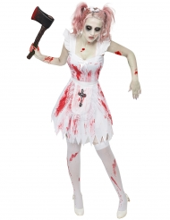 Disfarce dama de honra zombie mulher Halloween
