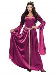 Disfarce vestido de princesa medieval mulher