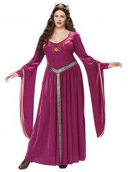 Disfarce vestido de princesa medieval mulher tamanho grande