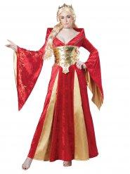 Disfarce rainha medieval mulher