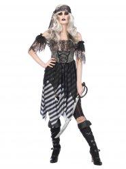Disfarce pirata gótica mulher