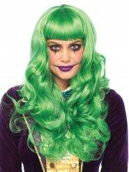 Peruca comprida verde mulher