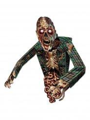 Figura de cartão zombie assustador Halloween
