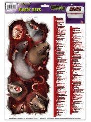 Adesivos ratos terríveis e manchas de sangue