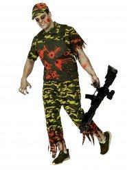 Disfarce soldado zombie Hallowenn camuflado homem