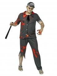 Disfarce policia zombie homem cinzento Halloween